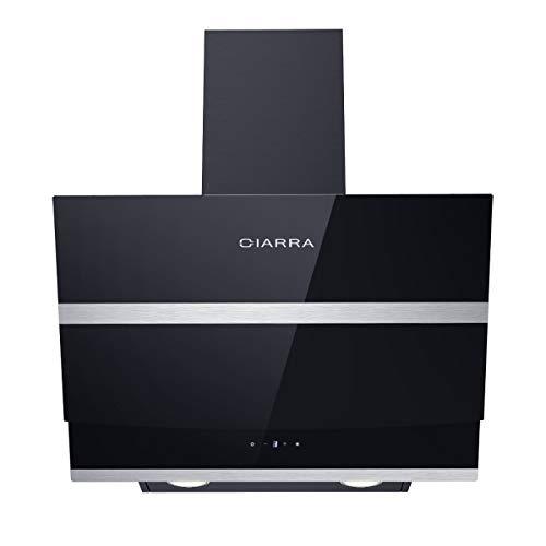 CIARRA CBCB6736N Cappa Aspirante Cucina 60 cm in Acciaio Inox, 750 m / h, Scarico Aria/Ricircolata...
