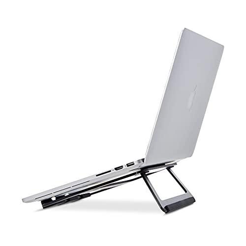 """AmazonBasics - Soporte plegable de aluminio para ordenador portátil de hasta 15"""", Negro"""