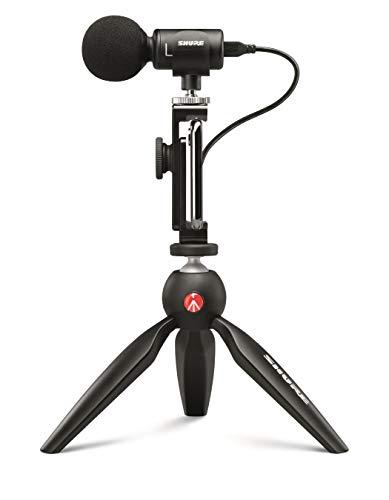 Shure MV88+ Video Kit mit digitalem Stereo-Kondensatormikrofon für Apple und Android