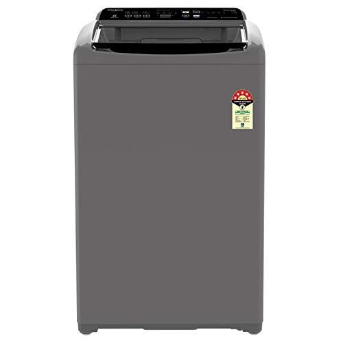 Whirlpool 7.5 Kg 5 Star Fully-Automatic Top Loading Washing Machine (WHITEMAGIC ELITE 7.5, Grey, Hard Water Wash)