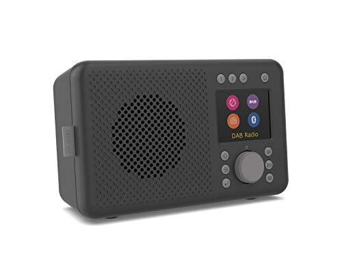 Pure Elan Connect Radio Internet Tout-en-Un avec Dab et Bluetooth 4.2 (Radio Dab/Dab+, FM et Internet, écran Couleur TFT, 20 mémoires de Stations, Fonctionnement sur Batterie Possible), Charcoal