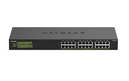 Netgear GS324PP 24 Port Gigabit Ethernet LAN PoE Switch (mit 24x PoE+ 380W, Plug-and-Play, Desktop- oder Rack-Montage, energieeffizient, robustes Metallgehäuse)