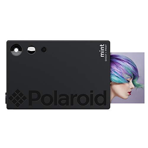 Polaroid Mint Sofortdruck-Digitalkamera (Schwarz), Druck auf Zink 2x3 Fotopapier mit festhaftender Rückseite