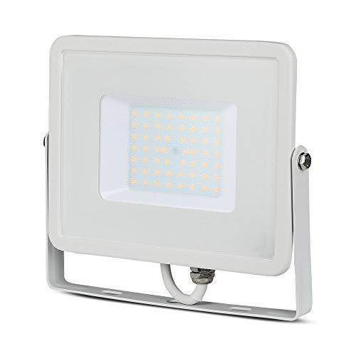 V-Tac VT-50, Faro LED da esterno, Con chip Samsung, 50 W, Luce colore bianco, 4000 lm