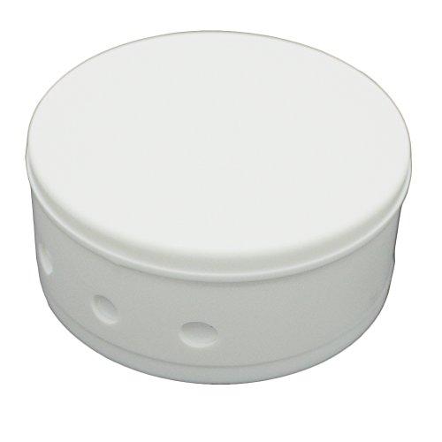 Verteilerdose Weiß Kunststoff 2-tlg. mit Zubehör ø 70x31mm Verteilerbaldachin Aufputzdose Anschlussdose