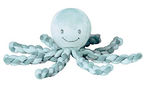 Nattou Kuscheltier Oktopus, Für Neugeborene und Frühchen, 23 cm, Mintgrün