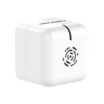 RADARCAN® R-107 Anti Moustiques Portable Premium, 25 m², 4 x 1,5 V AAA (Non fournies), Blanc