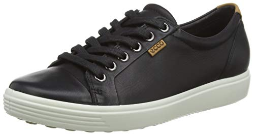 Ecco  Womens Soft VII Fashion Sneaker, Black, 40 EU/9-9.5 M US