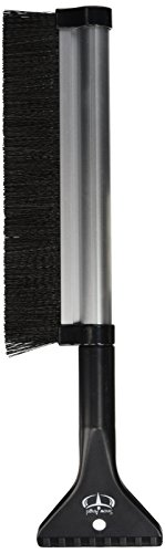 Extendable Telescoping Snow Brush - Ice Scraper for Car, Retracts from 24' to 17' for Easy Storage - Reaches Entire Windshield - Stiff Bristle Brush - Lightweight Sturdy Aluminium Design