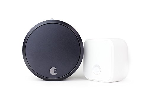 August Home August Smart Lock Pro + Connect with Wi-Fi Bridge, Dark Gray. Zwave, HomeKit & Alexa Compatible