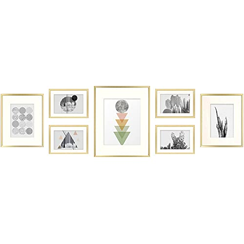Golden State Art, 7 Pack Frames for One 11x14, Two 8x10, and Four...