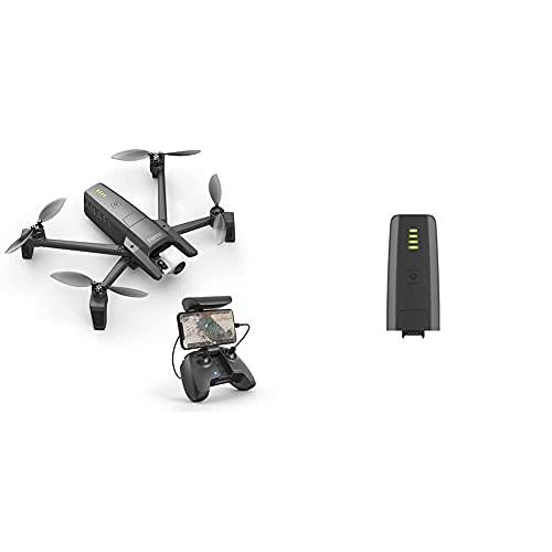 Parrot Anafi Base Drone con Videocamera HDR 4K/foto da 21 MP con Gimbal con Inclinazione a 180, Nero & ANAFI Batteria Intelligente 7,6 V LiPo, 2 celle, 2700 mAh, autonomia: 25 min, Grigio scuro