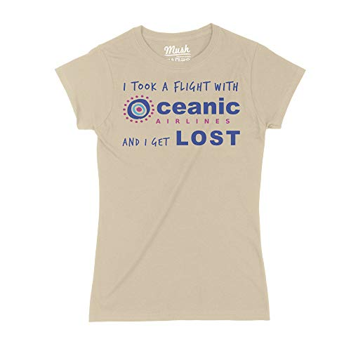 MUSH T-Shirt Lost - Volo Oceanic - Film by Dress Your Style - Donna-S-Sand