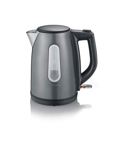 Severin WK 9540 - Hervidor de agua, 1 L, 2200 W, color gris-metálico y negro