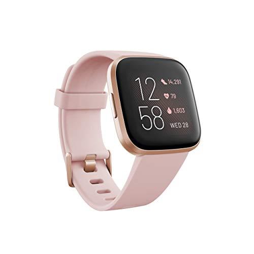 Fitbit Versa 2 - Smartwatch de salud y forma física, Rosa pétalo/rosa cobrizo