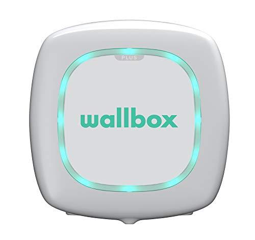 Wallbox Pulsar Plus Cargador para Coches eléctricos. Tipo 1. Potencia máxima 7,4 kW. (Blanco, Cable 5 m)
