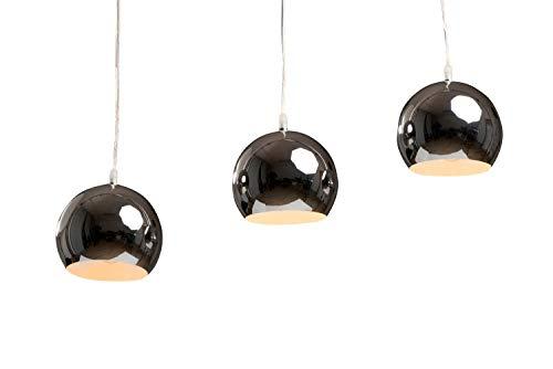 anTes interieur Hängeleuchte Trias lang chrom mehrflammig/Farbe chrom, kupfer oder kupfer gebürstet (Pendelleuchte Hängelampe Deckenlampe Pendellampe Deckenleuchte)