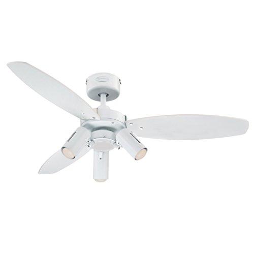 78703 Ventilatore da soffitto bianco da 105 cm Jet Plus per interni, kit con faretto