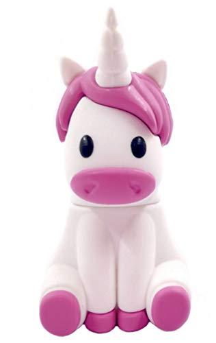 Unicornio Unicorn 16GB - Memoria Almacenamiento de Datos - USB Flash Pen Drive Memory Stick - Diseño único y Original - Blanco y Rosa