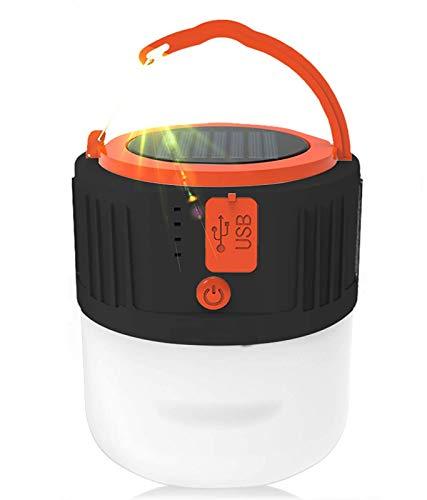 Lampe de camping solaire LED - Rechargeable par USB - Lanterne de camping...