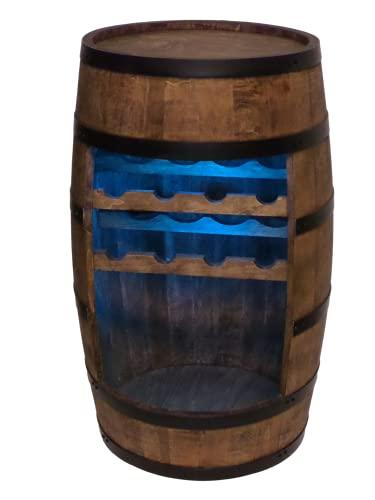 Cantinetta in legno Mini Bar Cantinetta per vino uomo e donna armadio con luci a LED altezza 80 cm Scaffale decorativo retr bar bar mobile per botte (wenge)
