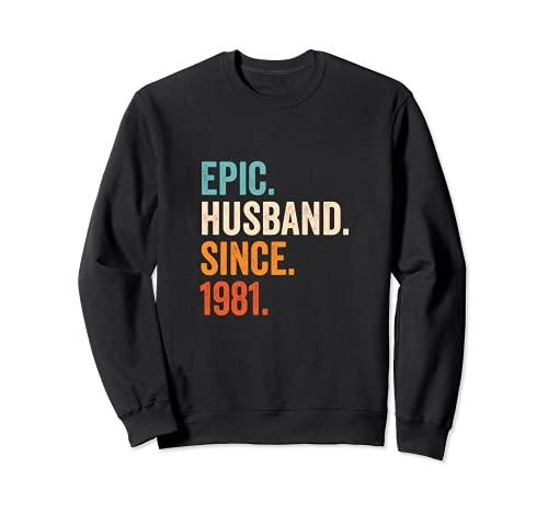 Epic Husband Since 1981 | 40 aniversario de boda 40 años Sudadera