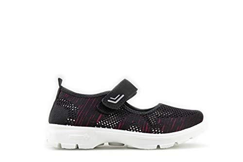 Modelisa - Zapatillas Merceditas Sandalia Ligero para Mujer (Negro, Numeric_39)