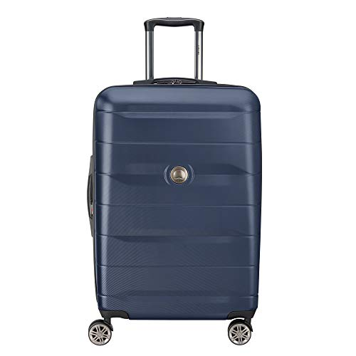 DELSEY Paris Comete 2.0 Hardside Expandable Luggage with Spinner Wheels, Anthracite, Checked-Medium 24 Inch