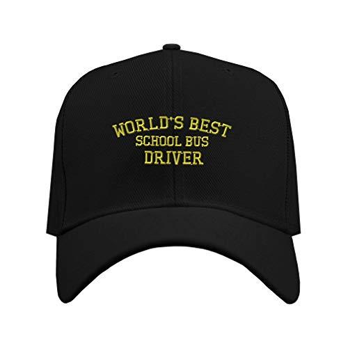 Baseball Cap Worlds Best School Bus Driver Embroidery...