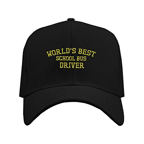 Baseball Cap Worlds Best School Bus Driver Embroidery...
