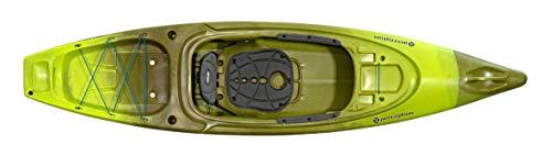 "Perception Kayaks Sound 10.5   Sit Inside Kayak for Fishing and Fun   Two Rod Holders   Large Rear Storage   10' 6""   Grasshopper"