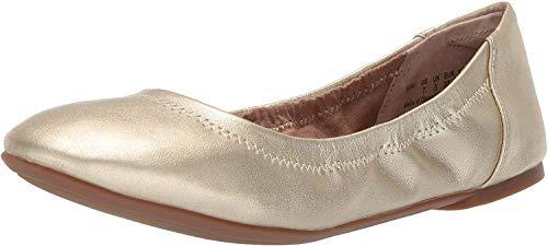 Amazon Essentials Belice Ballet Flat Zapatos Bailarinas,Dorado, 36 EU