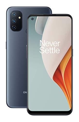 OnePlus N100 Smartphone Display LCD HD + da 6,52 ', 4 GB di RAM + 64 GB di spazio di Archiviazione, Tripla Fotocamera, Batteria da 5000 mAh, Doppia SIM, 4G, Midnight Frost