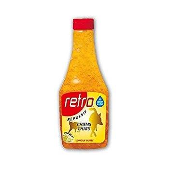 RETRO | CRISTAUX DE GEL RÉPULSIF CHIENS et CHATS | Flacon 500 ml | Solution prête à l'emploi | REGEL3