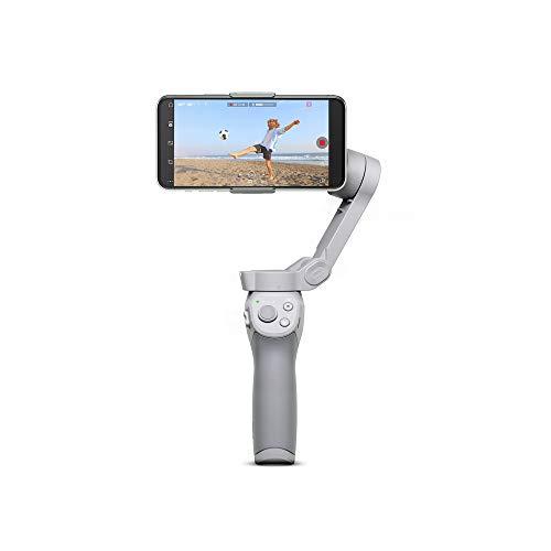 DJI OM 4 - Stabilizzatore a 3 Assi per Smartphone, Design Magnetico, Portatile e Pieghevole, DynamicZoom, CloneMe, Timelapse, Controllo con Gesti, Modalità Spin, Modalità Story, Slow Motion, Panorama