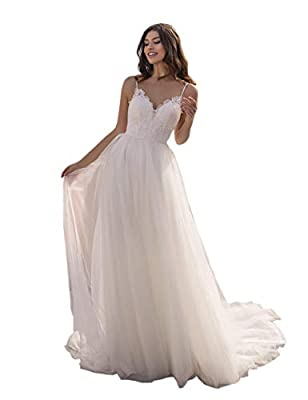 ☀Features:Sweetheart,V Neck,Spaghetti Straps,Open Back,A Line,Sleeveless,Floor Length,Zipper Back,Built in Bra. ☀Size:In order to make sure the dress fit you,please refer to the standard size chart displayed left below the picture. Not Amazon's. ☀Mor...