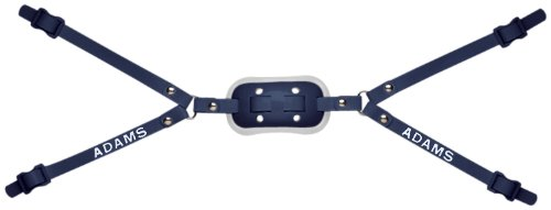 Adams USA GEL-50-4D 4-Point High Football Chin Strap with D-Rings, Navy Blue
