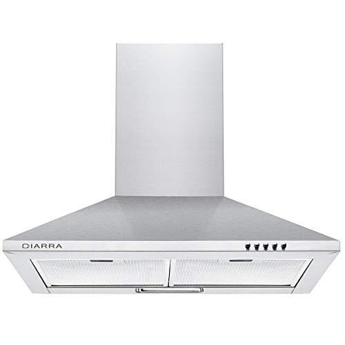 CIARRA CBCS6201 cappa da cucina 60cm in acciaio inossidabile (argento)
