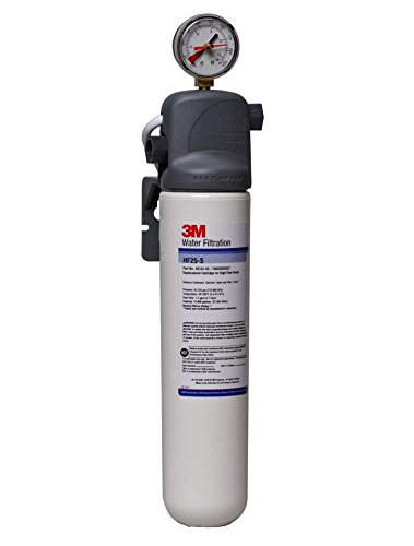3M Water Filtration System for Commercial Ice Maker Machines, High Flow Series, Reduces Sediment, Chlorine Taste and Odor, Inhibits Scale, 1.5 GPM, 10,000 Gallon Capacity
