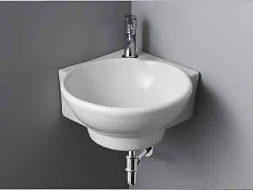 BATHERO Porcelain Wash Basin, White, Glossy Finish