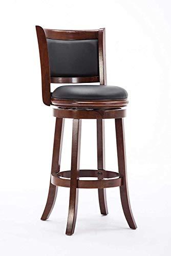 Boraam Augusta Bar Height Swivel Stool, 29-Inch, Cherry