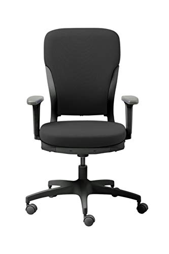 GODREJ INTERIO Polyester Ergonomic Motion High Back Matte Finish Adjustable Armrest Executive Chair Suitable for Work from Home (Carbon Black)