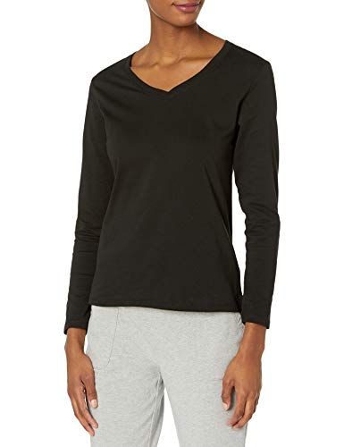 Hanes Women's Perfect-T Long Sleeve V-neck T-shirt