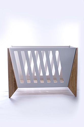 Kinderbett, Designerbett, Kinderbett, Kinderbett mit weißer Farbe, Kinderbett aus Eichenholz