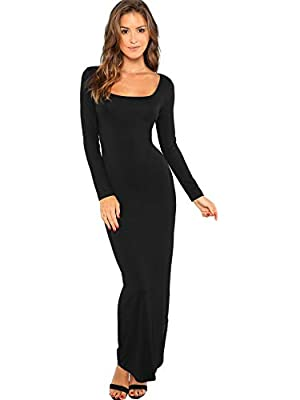 94% Rayon, 6% Spandex Long sleeve, fitted pencil bodycon tunic dress soft and comfortable, stretch fabric Suitable for all seasons, perfect for Fitness, Club, Party,Beach, or Daily Wear Model Measurement: Height: 68.1 inch, Bust: 33.9 inch, Waist: 25...