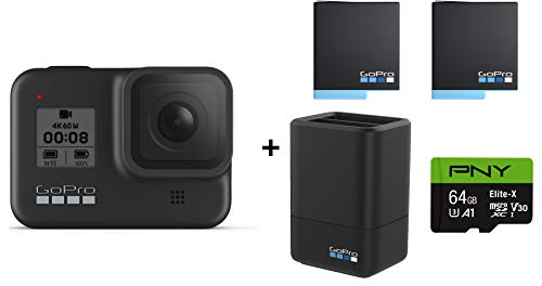 GoPro-HERO8-Black-Action-Camera-wGoPro-Dual-Lithium-Ion-Battery-Charger-with-2-Total-Batteries-64GB-Memory-Card