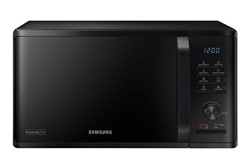 Samsung MG23K3515CK Forno Microonde, 23 Litri, 800, Grill 1100 W,Scongelamento Rapido, Nero