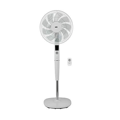 ANSIO Standventilator 40CM mit Fernbedienung - Ventilator- Standlüfter- höhenverstellbarer Standfuß -9 Klingen 26 Geschwindigkeiten DC Motor - weiß - 2 Jahre Garantie
