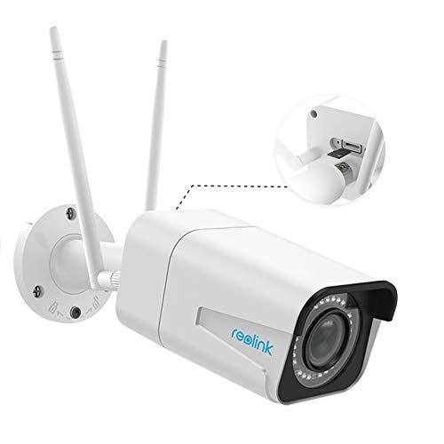 Reolink 5MP HD Telecamera WiFi Esterno di Sicurezza Senza fili, Videocamera Sorveglianza Esterno WiFi con 4X Zoom Ottico, Wi-Fi Dual Band a 2,4GHz o 5GHz e Visione Notturna - RLC-511W
