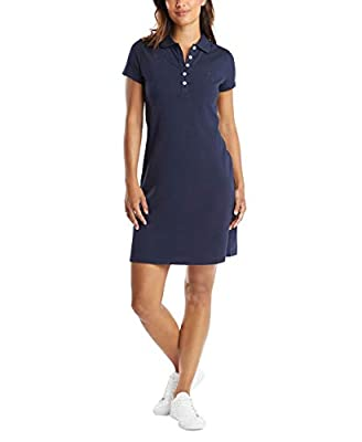 Ribbed collar, 5-button placket Short sleeves
